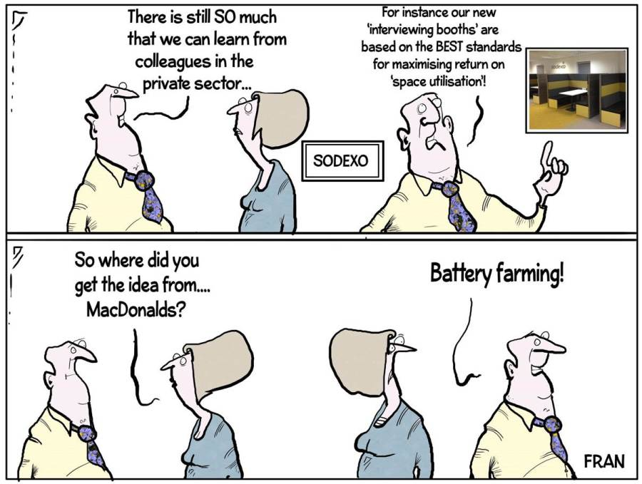 Interview booth Cartoon