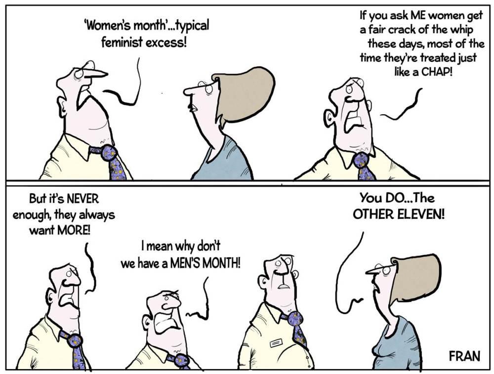 Womens Month Cartoon